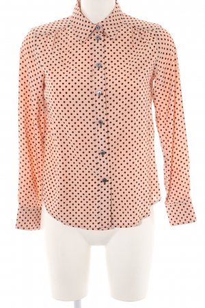 Marc Jacobs Hemd-Bluse nude-schwarz Punktemuster Business-Look