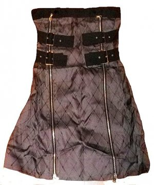 Marc Jacobs Bustier Dress grey-black silk