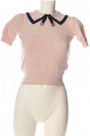 Marc Jacobs Short Sleeve Sweater pink casual look