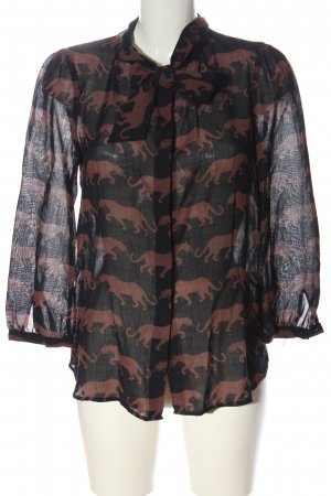 Marc Jacobs Long Sleeve Shirt black-brown abstract pattern casual look