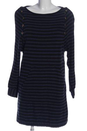 Marc Jacobs Jurk met lange mouwen blauw-zwart gestreept patroon