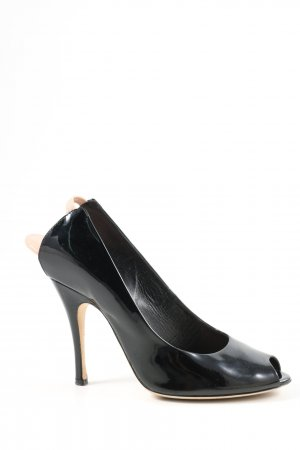 Marc Jacobs Peeptoe Pumps schwarz Business-Look