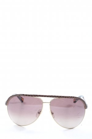Marc Jacobs Pilot Brille braun-lila Casual-Look
