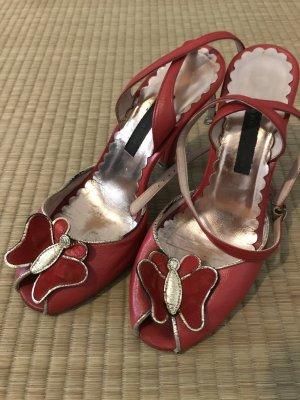 Marc Jacobs Talons hauts rouge-brun sable cuir