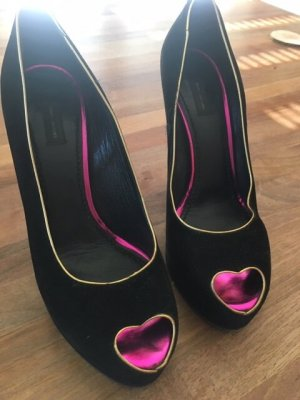 Marc Jacobs Talons hauts noir-violet cuir