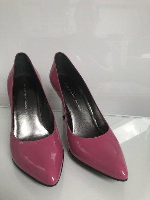 Marc Jacobs Pumps Lackleder Pink Rosa dustbag 39 Celine Dion hat die!