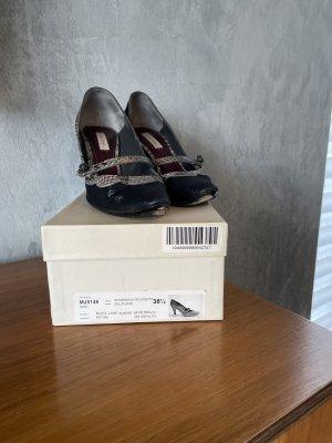 Marc Jacobs Pumps met bandjes zwart-grijs