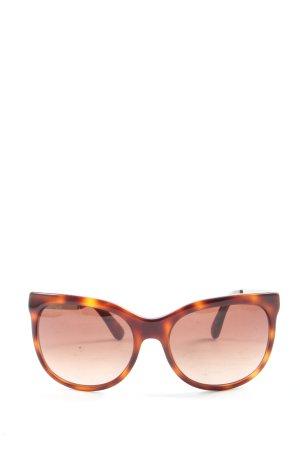 Marc Jacobs Ronde zonnebril bruin-licht Oranje volledige print