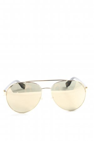 Marc Jacobs Aviator Glasses black-gold-colored printed lettering casual look