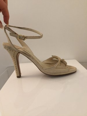 Marc Jacobs High Heel Sandal oatmeal-gold-colored