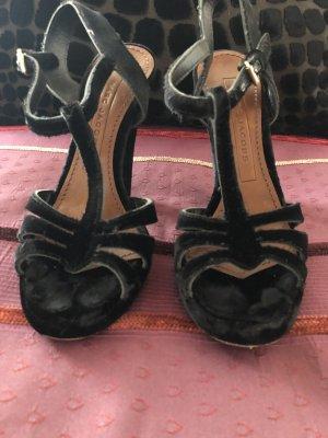 Marc Jacobs Sandalen met bandjes en hoge hakken zwart Leer