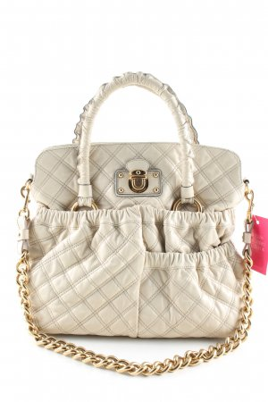Marc Jacobs Schultertasche wollweiß Steppmuster Casual-Look