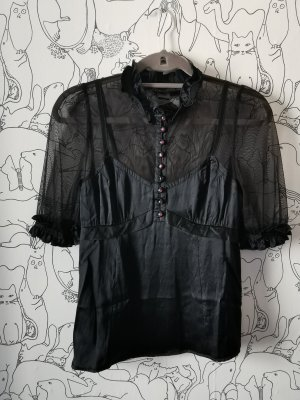 Marc Jacobs Top de seda negro
