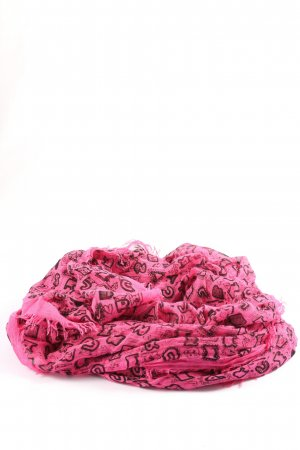 Marc Jacobs Summer Scarf pink-black allover print casual look