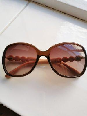 Marc Jacobs Owalne okulary przeciwsłoneczne brązowo-czerwony-różany