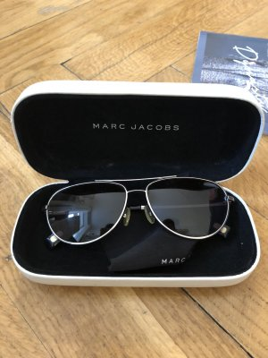 Marc Jacobs Aviator Glasses black-silver-colored