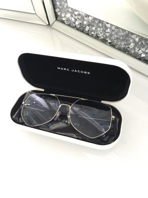 Marc Jacobs Kwadratowe okulary przeciwsłoneczne błękitny-złoto