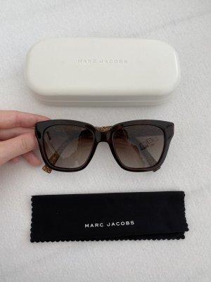 Marc Jacobs Occhiale da sole spigoloso marrone scuro-marrone-nero Acetato