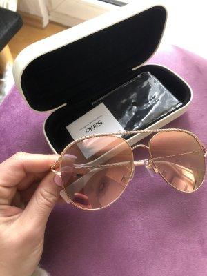 Marc Jacobs Okulary pilotki w kolorze różowego złota-złoto