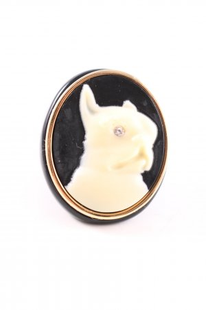 Marc Jacobs Statement Ring black-natural white elegant