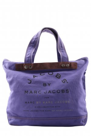 Marc Jacobs Canvas Bag lilac printed lettering casual look