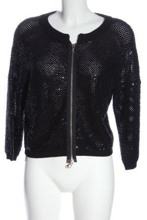 Marc Jacobs Giacca in maglia nero con glitter