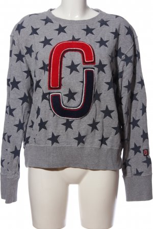 Marc Jacobs Sweat Shirt light grey-black allover print casual look