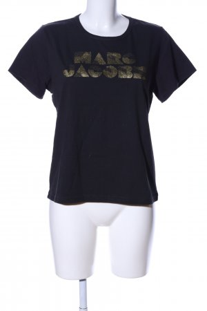 Marc Jacobs T-shirt nero caratteri stampati stile casual
