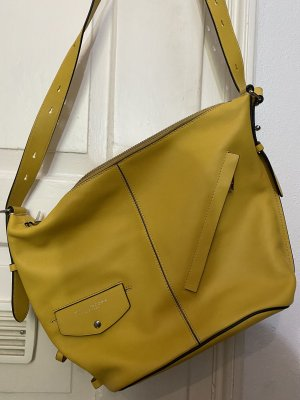 Marc Jacobs Shoulder Bag yellow-silver-colored leather