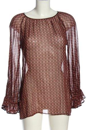 Marc Jacobs Blouse transparente rouge imprimé allover élégant