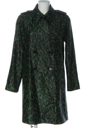 Marc Jacobs Between-Seasons-Coat green-black allover print casual look