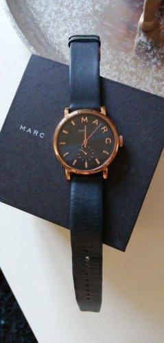 Marc by Marc Jacobs Montre avec bracelet en cuir or rose-bleu foncé
