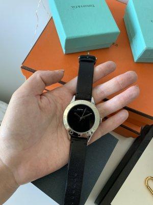 Marc Jacobs Reloj con pulsera de cuero negro-color plata