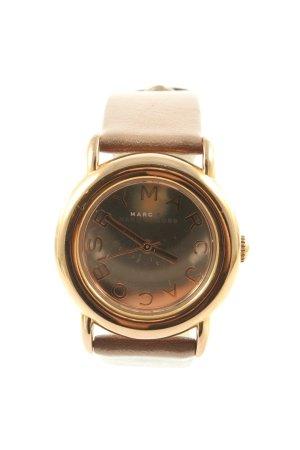 Marc Jacobs Montre avec bracelet en cuir brun style décontracté