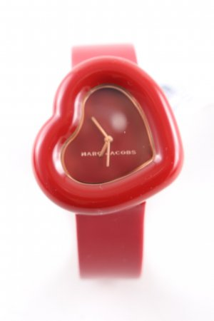Marc Jacobs Uhr mit Lederarmband rot Casual-Look