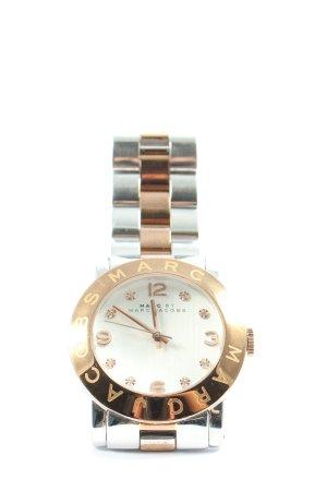 Marc Jacobs Horloge met metalen riempje zilver-goud zakelijke stijl