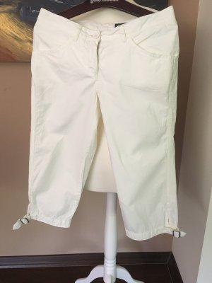 Marc O'Polo Spodnie Capri w kolorze białej wełny Bawełna