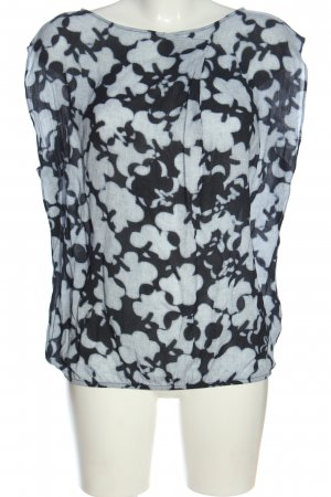 Marc O'Polo ärmellose Bluse schwarz-weiß Allover-Druck Casual-Look