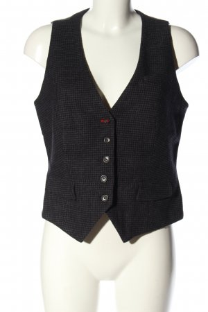 Marc O'Polo Waistcoat black-light grey check pattern business style