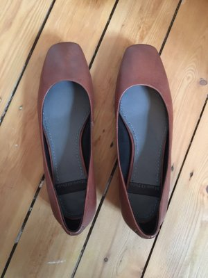 Marc O'Polo Mary Jane Ballerinas brown-cognac-coloured leather
