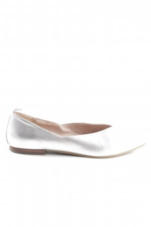 Marc O'Polo Ballerinas mit Spitze silberfarben Business-Look