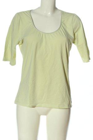 Marc O'Polo Basic-Shirt blassgelb Casual-Look