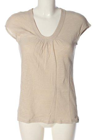 Marc O'Polo Basic-Shirt creme meliert Casual-Look