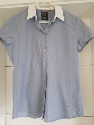 Marc O'Polo Bluse blau weiß gestreift Kurzarm Gr.S