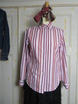 Marc O´Polo Bluse Burgund Rot Weiß gestreift Gr. 36 Streifen Hemd 100% Baumwolle Casual-Look