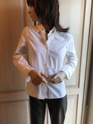 Marc O´Polo Bluse Hemd 34 weiß Business reine Baumwolle