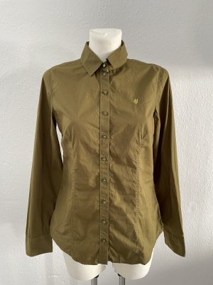 Marc'O Polo Bluse Khaki grün gr 36 Kragen