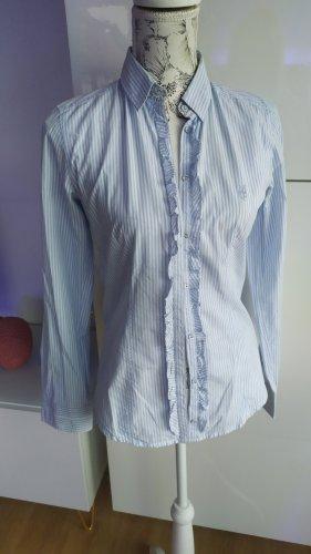 Marc O'Polo Bluse weiss blau gestreift gr. 34 Passt auch S