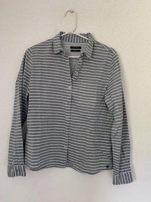 Marc O'Polo Bluse weiß grau gestreift Gr 36
