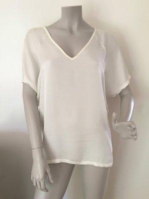 Marc O'Polo Blusen-Shirt Materialmix Viskose Leinen Gr. M creme 502217151307 WIE NEU